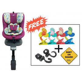 SS Original Life ISOFIX Infant Car Seat (GR.0+1) - Hot Pink (Combo Set)