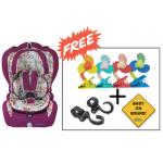 SS Original Life Child Car Seat (GR. 1+2+3) - Hot Pink (Combo Set)
