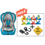 SS Original Life Child Car Seat (Gr. 1+2+3) - Turquoise Blue) (Combo Set)