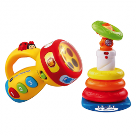 VTECH Crazy Colours Torch + Vtech Stack & Discover Rings