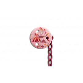 Suavinex Round Soother Clip Pink Ballerina