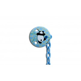 Suavinex Round Soother Clip Blue Panda