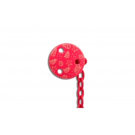 Suavinex Round Soother Clip Red Sea
