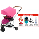 Oyster Gem Stroller - Pink FREE Little Bean Safety Fan + Munchkin Snack Pod + SitSafe Swivel Hook + Acquassimo