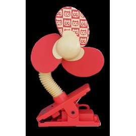 Little Bean Mini Safety Fan (Red/Yellow)