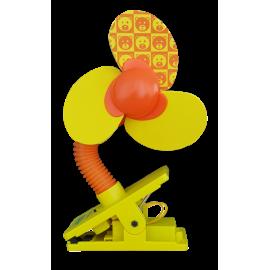 Little Bean Mini Safety Fan (Yellow/Orange)