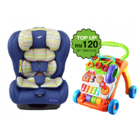 SS Original Life Infant Car Seat (GR.0+1+2) - Turquoise Blue + Vtech First Step Baby Walker